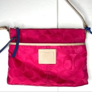 Coach signature CC crossbody purse hot pink